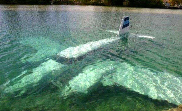 plane crash underwater